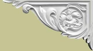 Floral Scroll-LeftStair Brackets & Scrolls